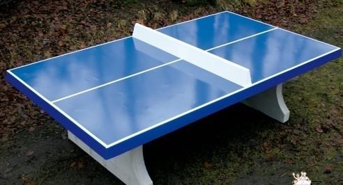 tischtennisplatte blau aus beton abula. Black Bedroom Furniture Sets. Home Design Ideas