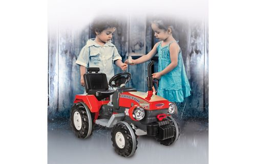 Ride-on Traktor Power Drag rot 12V